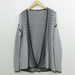 Belldini Cotton Blend Knit Open Cardigan